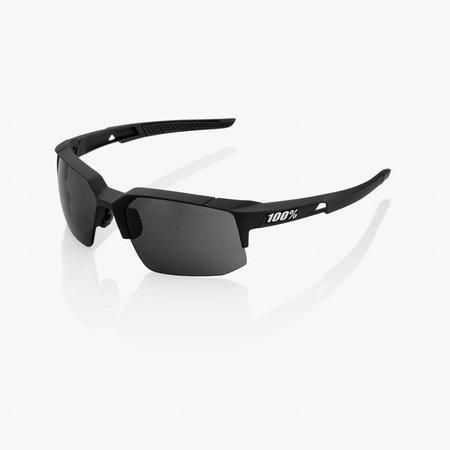 100% 100% Speedcoupe - Soft Tact Zwart - Smoke Lens