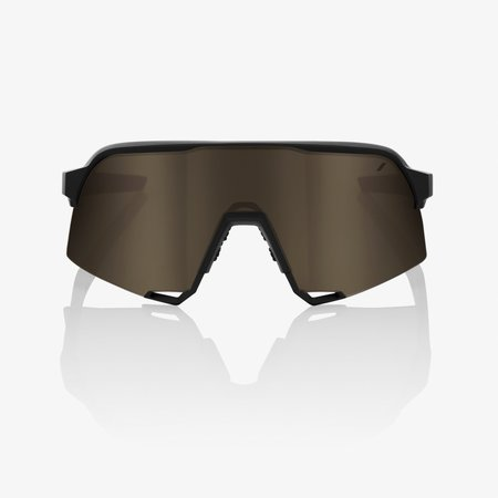 100% 100% S3® Soft Tact Black Soft Gold Mirror Lens + Clear Lens Included