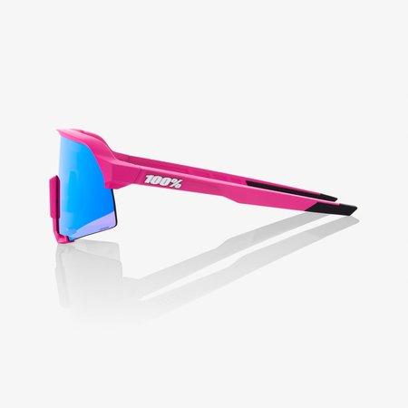 100% 100% S3® Matte Pink HiPER® Blue Multilayer Mirror Lens + Clear Lens Included