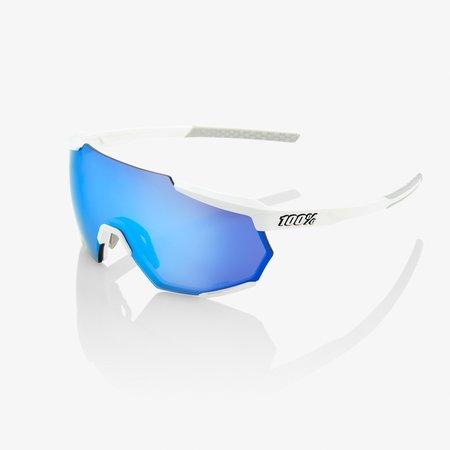 100% 100%   RACETRAP® Matte White HiPER® Blue Multilayer Mirror Lens + Clear Lens Included