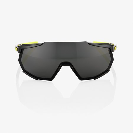 100% 100%  RACETRAP - Glossy Zwart- Smoke Lens