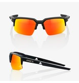 100% 100% Speedcoupe - Soft Tact Black - Hiper Red Multilayer Mirror Lens