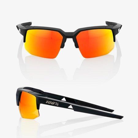 100% 100% Speedcoupe - Soft Tact Zwart - Hiper Rode Multilayer Mirror Lens