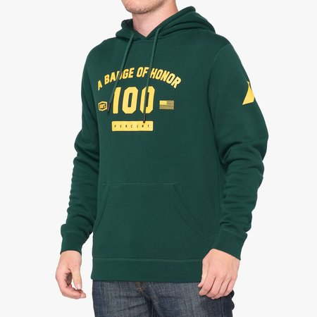 100% 100%  TRIBUTE Hooded Pullover Sweatshirt Emerald