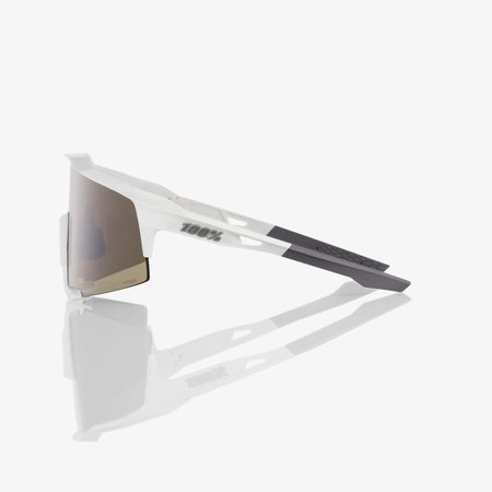 100% 100% SPEEDCRAFT - Matte White - HiPER Silver Mirror Lens (Incl. Clear Lens)