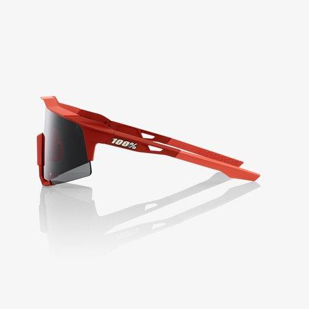 100% 100% SPEEDCRAFT - Soft Tact Coral - Zwarte Mirror Lens (Incl. Clear Lens)