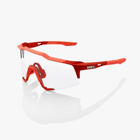 100% 100% SPEEDCRAFT® - Soft Tact Coral - Black Mirror Lens + Clear Lens Included