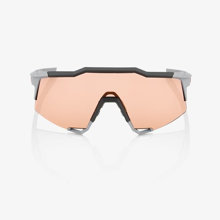 100% 100% SPEEDCRAFT® Soft Tact Stone Grey HiPER® Coral Lens + Clear Lens Included
