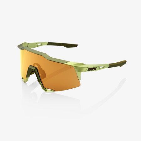 100% 100% SPEEDCRAFT - Matte Metallic Viperidae - Bronze Multilayer Mirror Lens (Incl. Clear Lens)