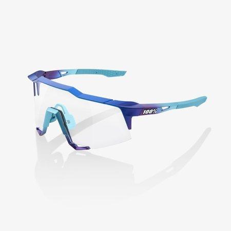 100% 100% SPEEDCRAFT - Matte Metallic Into the Fade - Blue Topaz Multilayer Mirror Lens (Incl. Clear Lens)