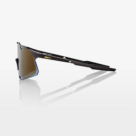100% 100% HYPERCRAFT - Matte Black - Soft Gold Mirror Lens (Incl. Clear Lens)