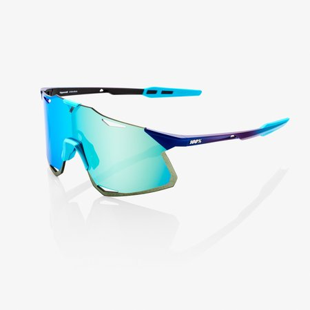 100% 100% HYPERCRAFT - Matte Metallic Into the Fade - Blue Topaz Multilayer Mirror Lens (Incl. Clear Lens)