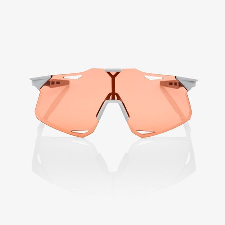 100% 100% HYPERCRAFT - Matte Stone Grey - HiPER Coral Lens (Incl. Clear Lens)