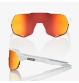 100% 100% S2 - Matte Off White - Hiper Red Lens (Incl. Clear Lens)