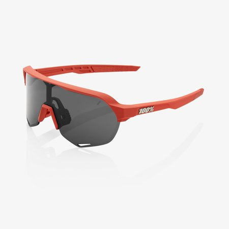 100% 100% S2 - Soft Tact Coral - Smoke Lens (Incl. Clear Lens)
