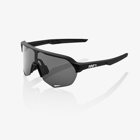 100% 100% S2 - Soft Tact Black - Smoke Lens (Incl. Clear Lens)