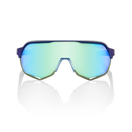 100% 100% S2 - Matte Metallic Into the Fade - Blue Topaz Multilayer Mirror Lens (Incl. Clear Lens)