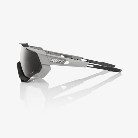 100% 100%  SPEEDTRAP - Soft Tact Stone Grey - Smoke Lens (Incl. Clear Lens)