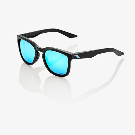 100% 100%  HUDSON Matte Black - HiPER® Blue Multilayer Mirror Lens