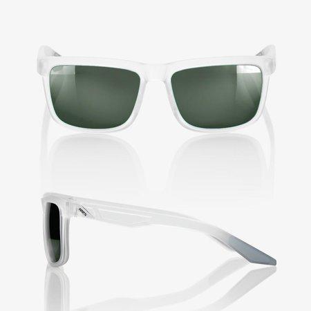 100% 100%  BLAKE Matte Translucent Crystal Clear - Grey Green Lens