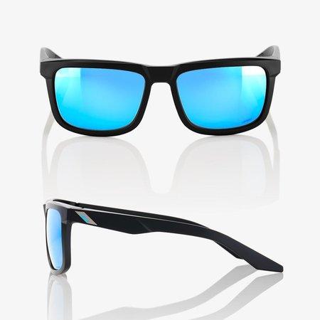 100% 100%  BLAKE Matte Black - HiPER® Blue Multilayer Mirror Lens