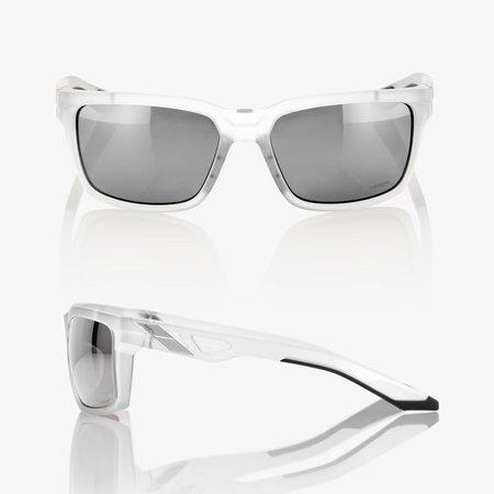 100% 100%  DAZE Matte Translucent Crystal Clear - HiPER® Silver Mirror Lens