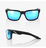 100% 100%  DAZE Matte Black - HiPER® Blue Multilayer Mirror Lens
