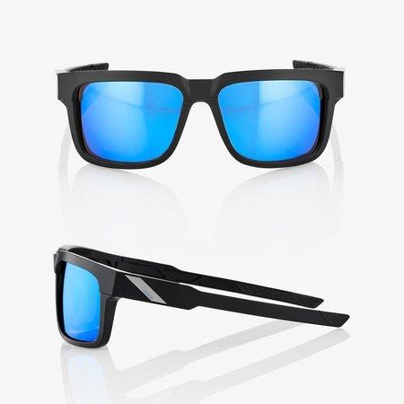 100% 100%  TYPE-S Matte Black - HiPER® Blue Multilayer Mirror Lens