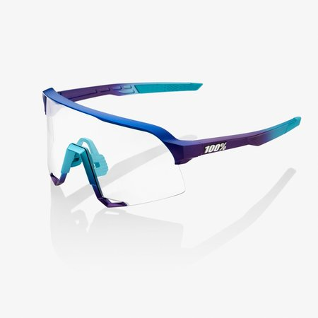 100% 100%  S3® Matte Metallic Into the Fade Blue Topaz Multilayer Mirror Lens (Clear Lens Incl.)
