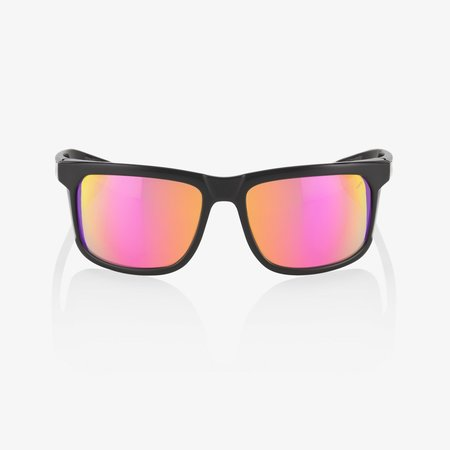 100% 100%  HAKAN Polished Black - Purple Multilayer Mirror Lens