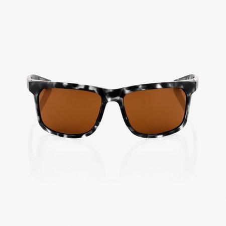 100% 100%  HAKAN Matte Black Havana - Bronze Lens
