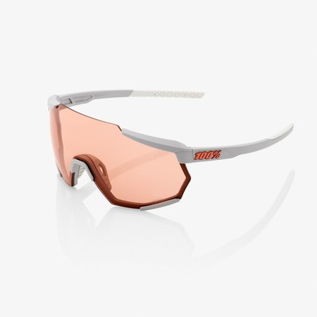 100% 100%  RACETRAP® Soft Tact Stone Grey HiPER® Coral Lens (Clear Lens Incl.)
