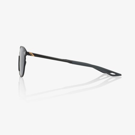 100% 100%  LEGERE ROUND Polished Black - Smoke Lens