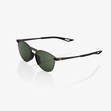 100% 100%  LEGERE ROUND Matte Black - Grey Green Lens