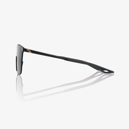 100% 100%  LEGERE SQUARE Polished Black - Smoke Lens