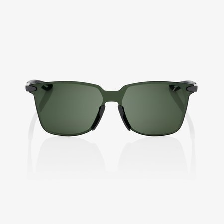 100% 100%  LEGERE SQUARE Matte Black - Grey Green Lens