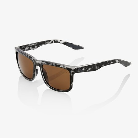 100% 100% BLAKE Matte Black Havana - Bronze Lens