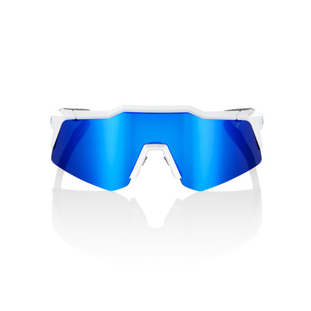 100% 100% SPEEDCRAFT® XS Matte White Blue Multilayer Mirror Lens + Clear Lens Included