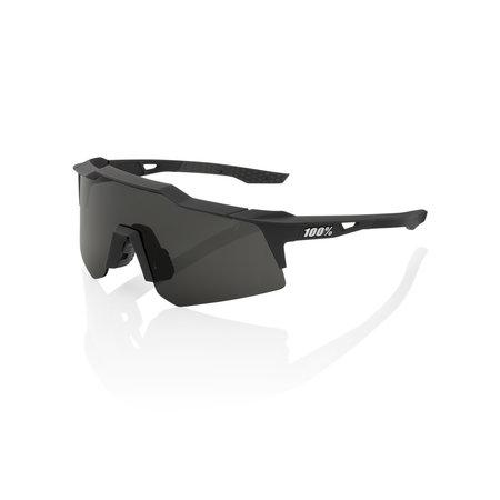 100% 100% SPEEDCRAFT XS - Soft Tact Black - Smoke Lens (Incl. Clear Lens)