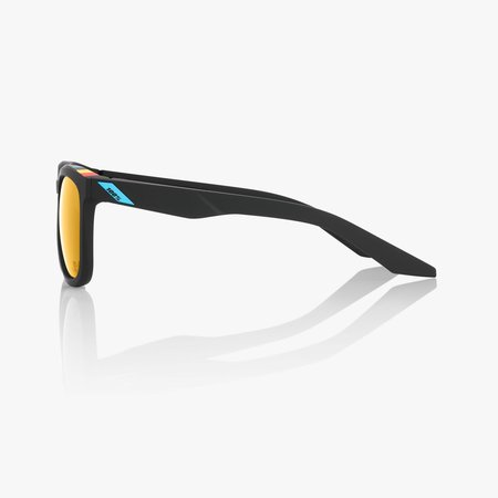 100% 100%  HUDSON BWR -  Black Soft Gold Mirror Lens