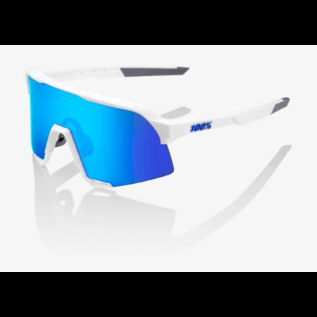 100% 100% S3® Matte White HiPER® Blue Multilayer Mirror Lens