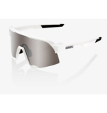 100% 100% S3® Matte White HiPER® Silver Mirror Lens + Clear Lens Included