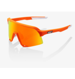 100% 100% S3® Neon Orange HiPER® Red Multilayer Mirror Lens + Clear Lens Included