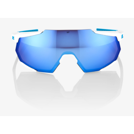 100% 100% RACETRAP® SE Movistar Team White HiPER® Blue Multilayer Mirror Lens + Clear Lens Included