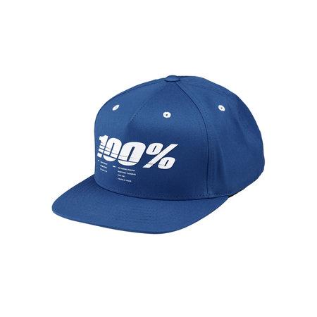 100% 100% Jeugd Pet Drive Snapback Blauw
