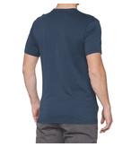 100% 100% T-Shirt Nord Blauw