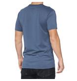 100% 100% T-Shirt Kramer Blauw