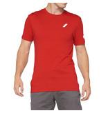 100% 100% T-Shirt Tiller Red