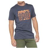 100% 100% T-Shirt Trademark Grey