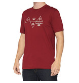100% 100% T-Shirt Vision Red